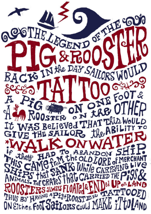 pig & rooster legend